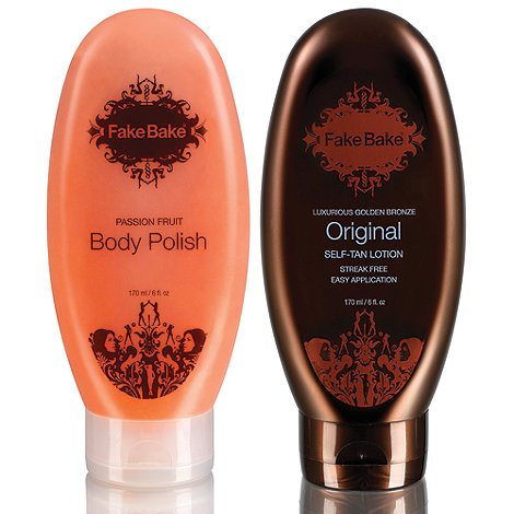 Fake Bake - Original self tan lotion and body polish gift set