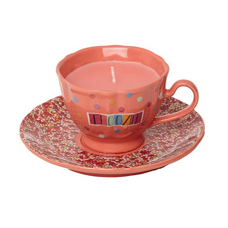 Floozie by Frost French - Pink candy scented tea cup candle