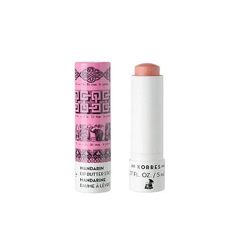 Korres - +Mandarin+ SPF 15 pink lip butter stick 4.8g
