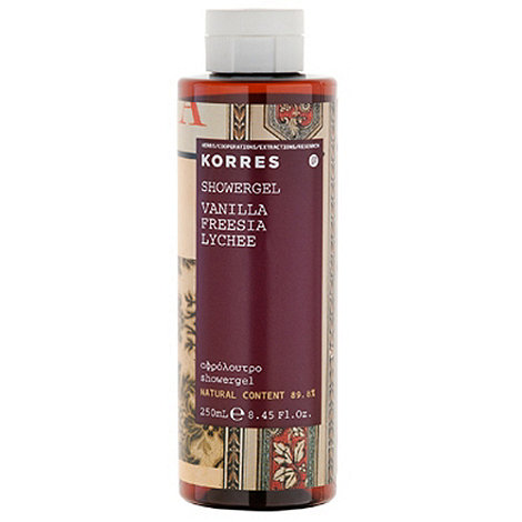 Korres - Vanilla, Freeso and Lychee Shower Gel 250ml