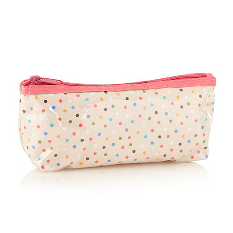 Debenhams - Pink spotty mini cosmetics bag