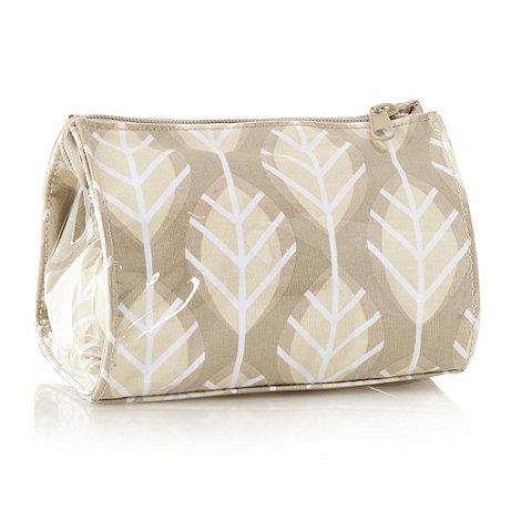 Debenhams - Green leaf wash bag