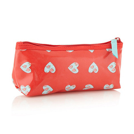 Debenhams - Red heart pattern mini cosmetics bag