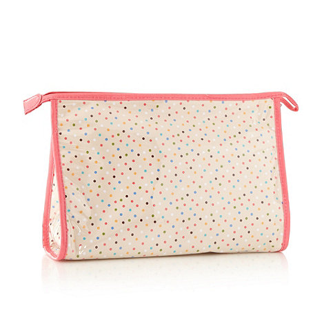Debenhams - Pink spotty classic washbag