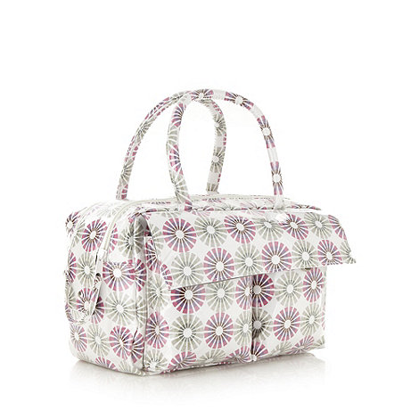 Debenhams - Dark pink dandelion vanity bag