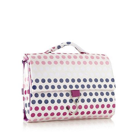 Debenhams - Purple gradient spot roll up wash bag