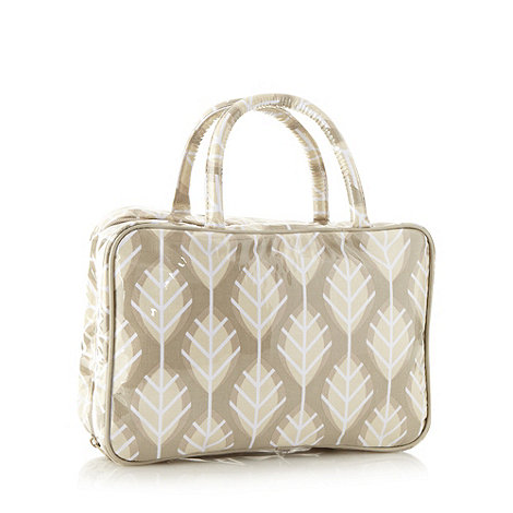 Debenhams - Green leaf classic hanging washbag