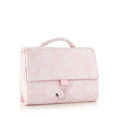 Debenhams - Pink floral hanging washbag