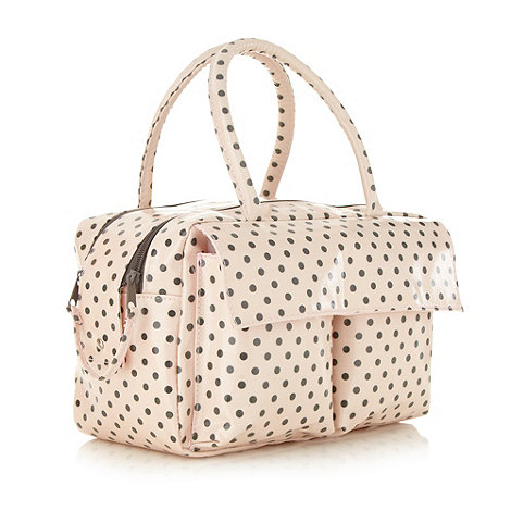 Debenhams - Pink and grey vanity bag