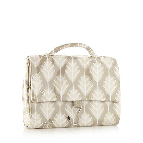 Debenhams - Green leaf hanging washbag