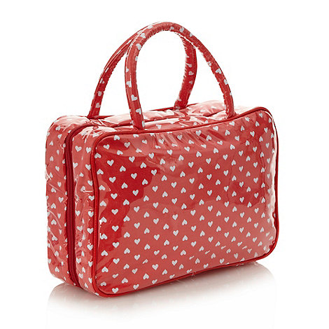 Debenhams - Red heart hanging washbag