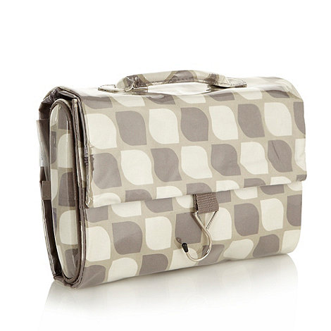 Debenhams - Grey leaf print hanging wash bag