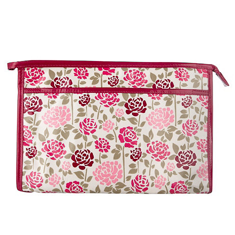 Debenhams - Pin rose print vanity bag