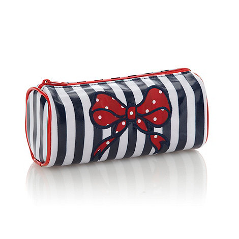 Debenhams - Nautical Bow Round Pencil Case