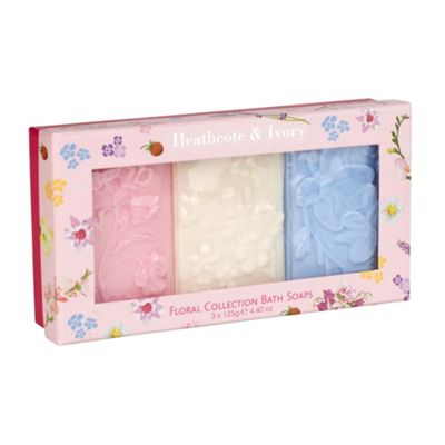 Floral Collection Bath Soaps (3 X 125g)