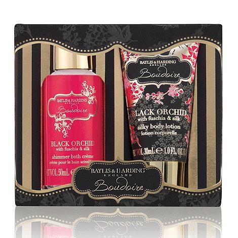 Baylis & Harding - Black Orchid with Fuchsia & Silk Duo Gift Set