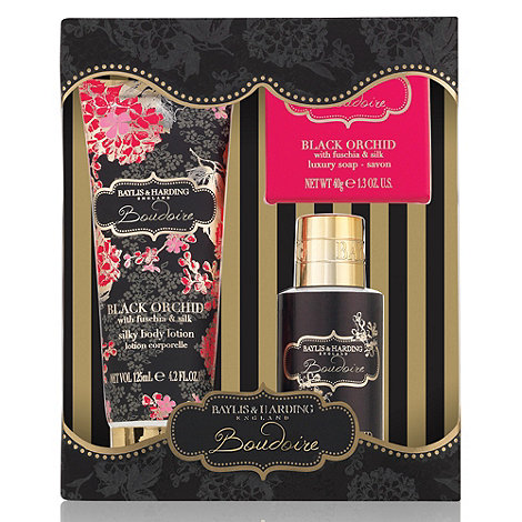 Baylis & Harding - Black Orchid with Fuchsia & Silk Bath Crème & Lotion Gift Set