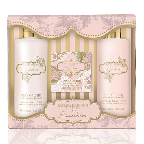 Baylis & Harding - Pink Orchid with Cashmere & Vanilla Perfect Pamper Gift Set