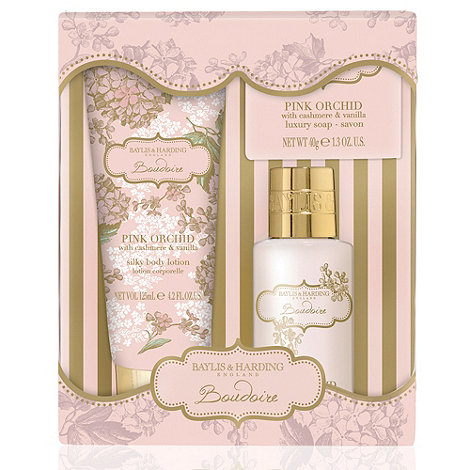 Baylis & Harding - Pink Orchid with Cashmere & Vanilla Bath Crème & Lotion Gift Set