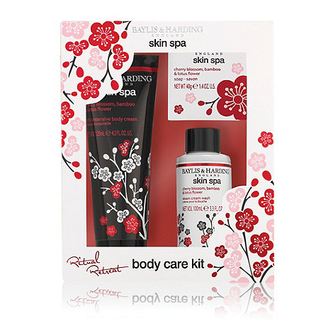 Baylis & Harding - Skin Spa Cherry Blossom, Oriental Lilly & Lotus Flower Treats Trio Gift Set