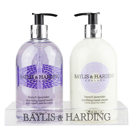 Baylis & Harding - French lavender 2 bottle set in clear rack gift set