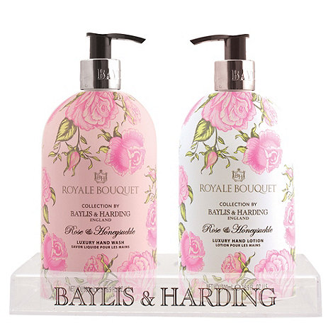 Baylis & Harding - Royale Bouquet 2 bottle set in clear rack gift set