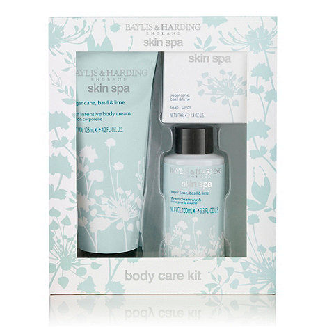 Baylis & Harding - +Skin Spa+ sugar cane, basil and lime 3 piece gift set