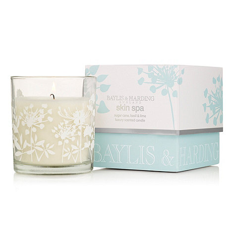 Baylis & Harding - Skin Spa Sugar Cane, Basil & Lime Single Wick Candle