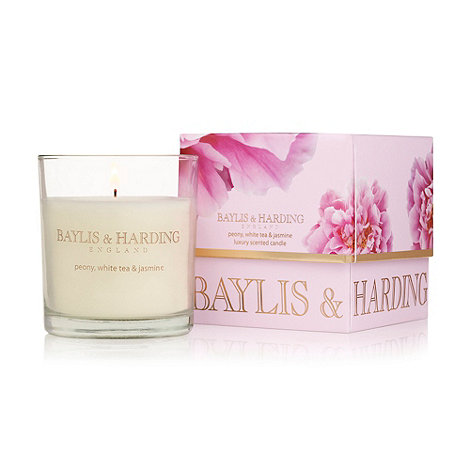 Baylis & Harding - Peony, White Tea & Jasmine Single Wick Candle