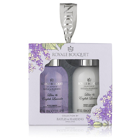 Baylis & Harding - Royale Bouquet+ lilac and English lavender cube gift set