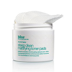 Bliss - Steep clean mattifying toner pads