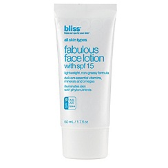Bliss - Fabulous Face Lotion SPF 15 50ml