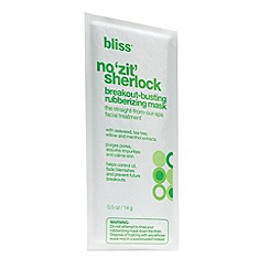 Bliss - No zit sherlock breakout-busting rubberizing mask (pack of 6)