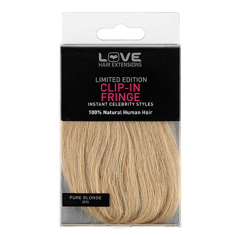 Love Hair Extensions - 100% Human Hair Clip In Fringe