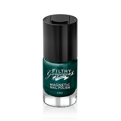 Filthy Gorgeous - Nail Polish- In a trance - Magnetic Metallic Rich Green