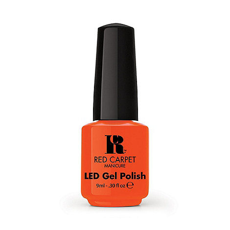 Red Carpet Manicure - Tangerine on the rocks+ LED gel nail polish 9ml