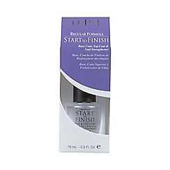 OPI - 'Start To Finish' regular formula nail strengthener 15ml
