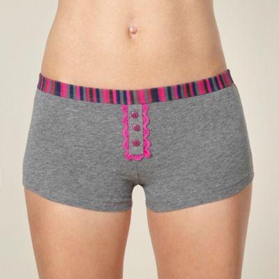 Dark grey striped waistband boxers