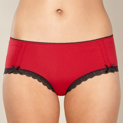 Red spotted microfibre shorts