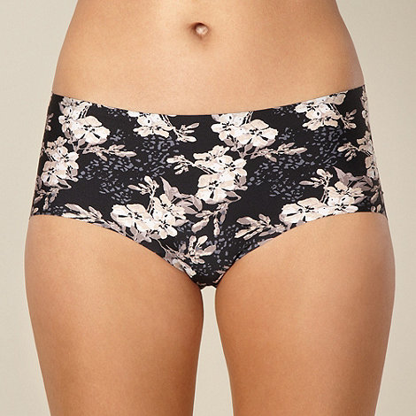 Debenhams - Black floral print invisible shorts