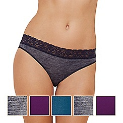 The Collection - 5 pack lace high leg knickers