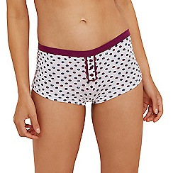 The Collection - White spot print shorts