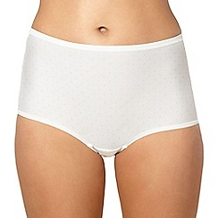 Debenhams - Cream spotted microfibre invisible full briefs