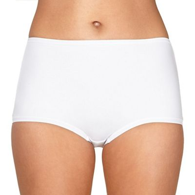 White Invisible comfort full briefs