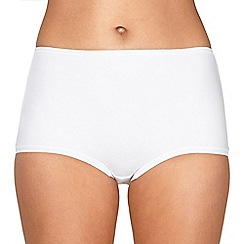 Debenhams - White Invisible comfort full briefs