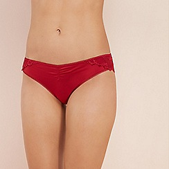 The Collection - Red lace Brazilian knickers