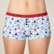 Light blue snowman christmas boxers