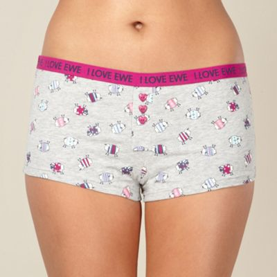 Grey sheep printed boxers