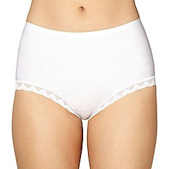 Debenhams - White invisible full brief knickers