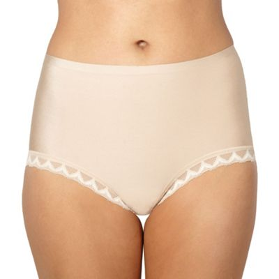 Beige invisible full brief knickers
